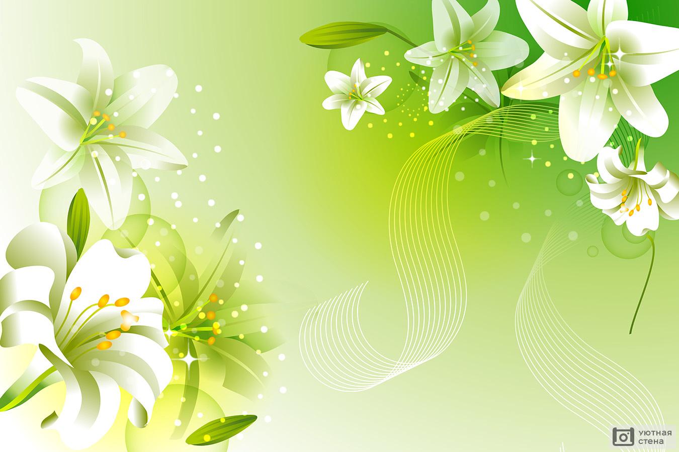 Сердечко, шаблоны открытки с лилиями
