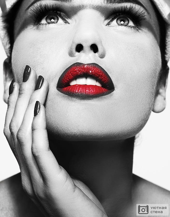 черно красные картинки губы рисунок даже можно