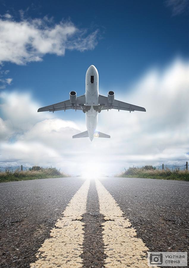 картинки самолет взлетает