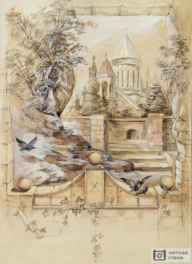 Картинки для декупажа винтаж замок