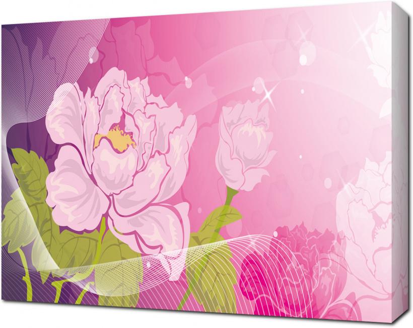Картины фотопечать на холсте пионы ес, удистский