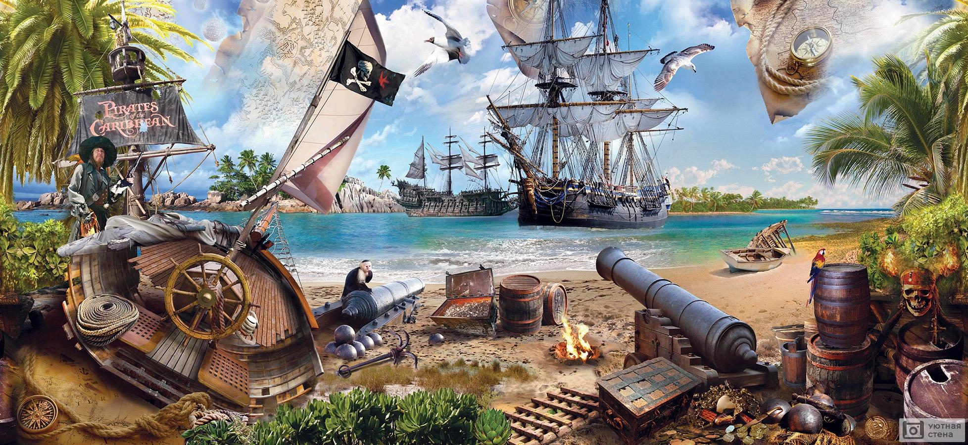 Картинки пиратской тематики для детей, открытки