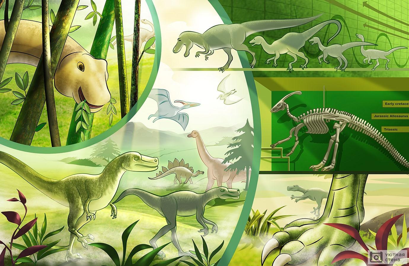 Открытки динозаврами, открытку днем