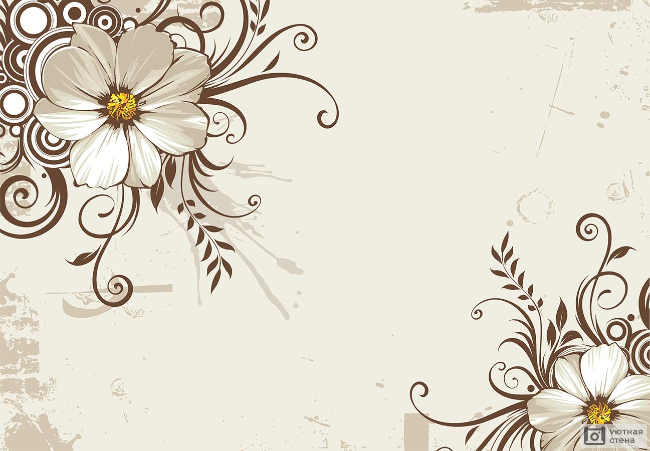 Шаблон открытки с орнаментом