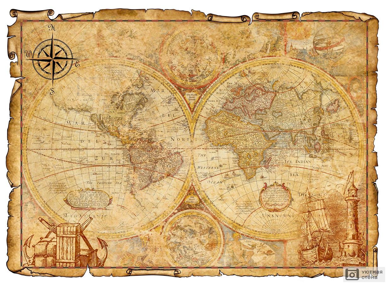 картинки старая карта шаблон туфли