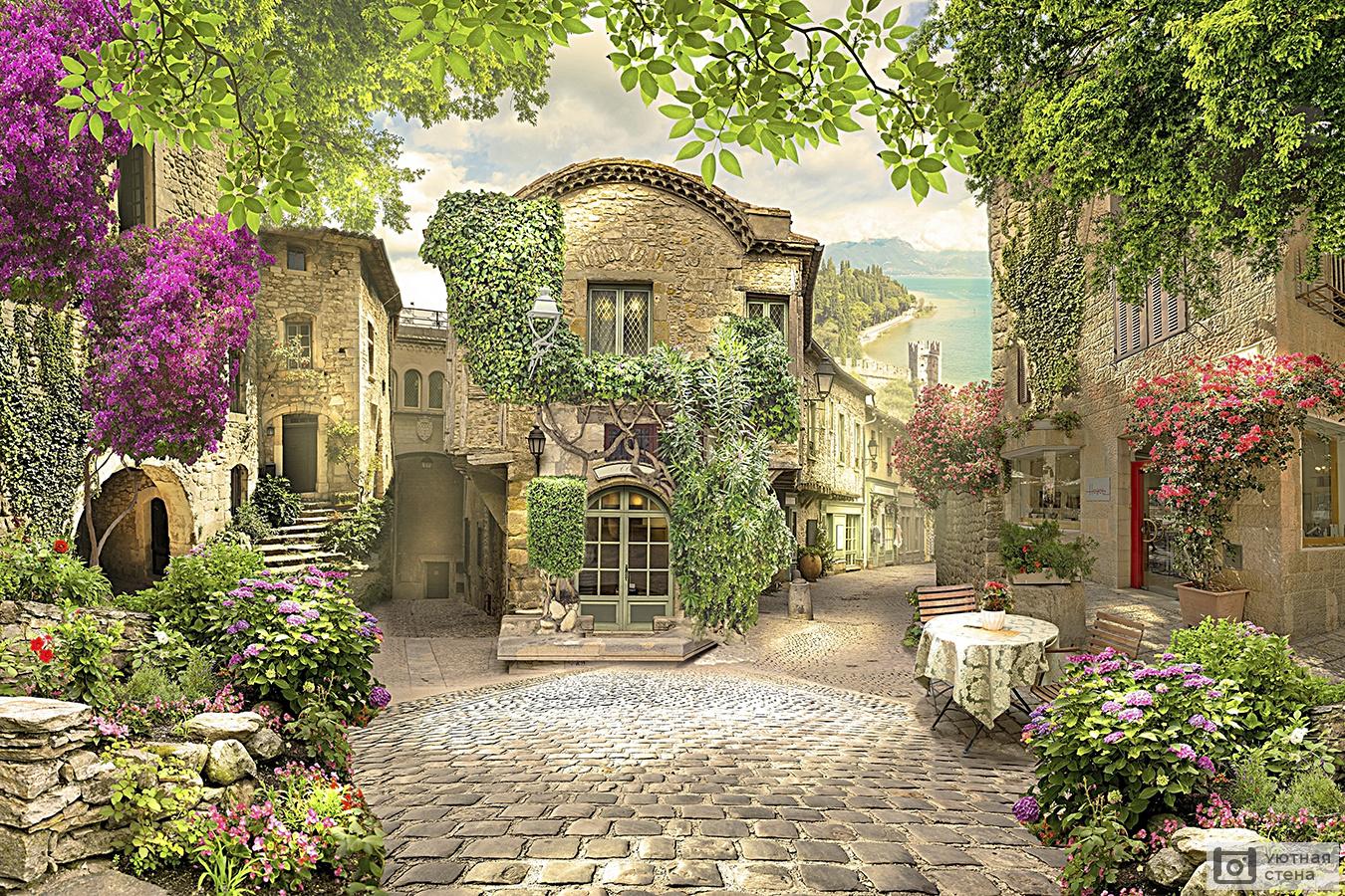 Фотообои улицы и дворики