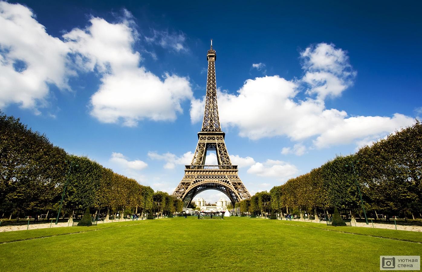 Обои Эйфелева башня, Облака, вид, лодки, красиво. Города foto 10